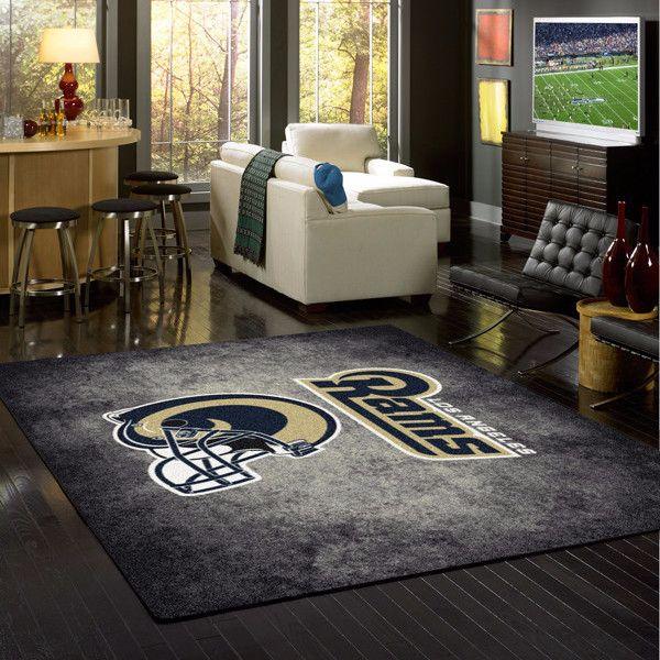 Los Angeles Rams Rug NFL Team Distressed