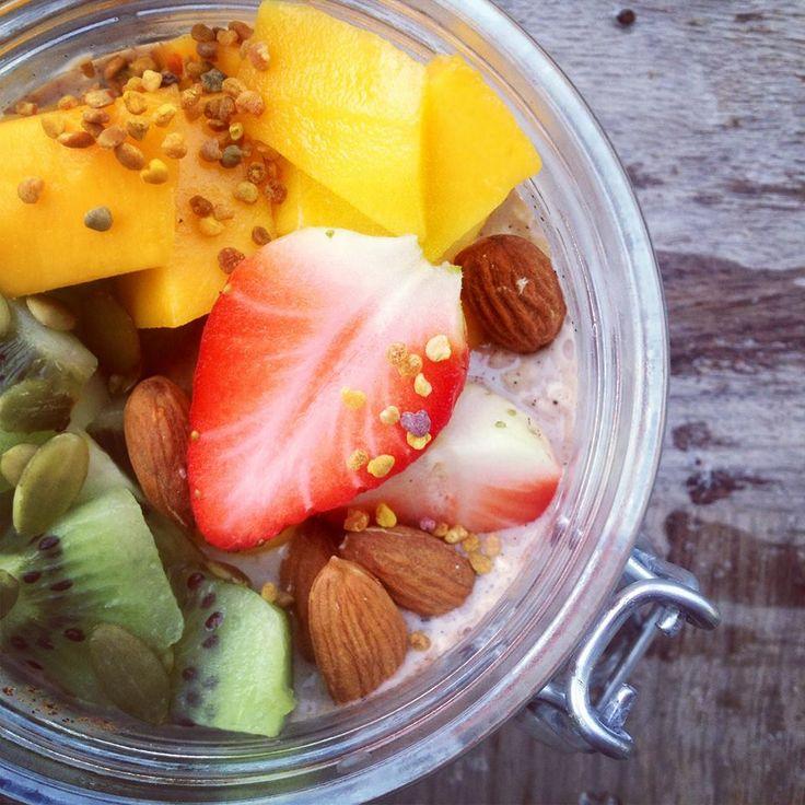 Yummie Overnight Oats oftewel koude havermout met fruit, een lekker recept
