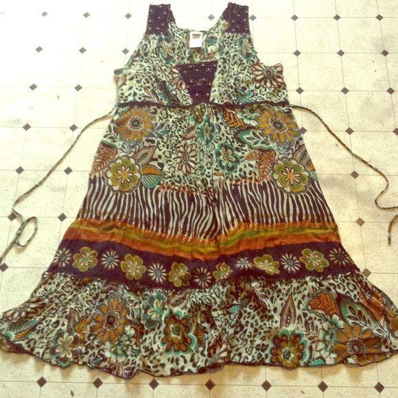 Spotted while shopping on Poshmark: Animal Print Festival Hippie Dress! #poshmark #fashion #shopping #style #Forbidden #Dresses & Skirts