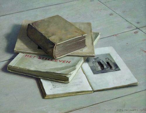 Henk Helmantel, Still Life with Books. 1945