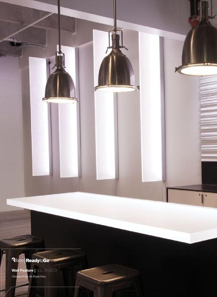 3form chroma edge lit plank fins lighting design for Interior form tops