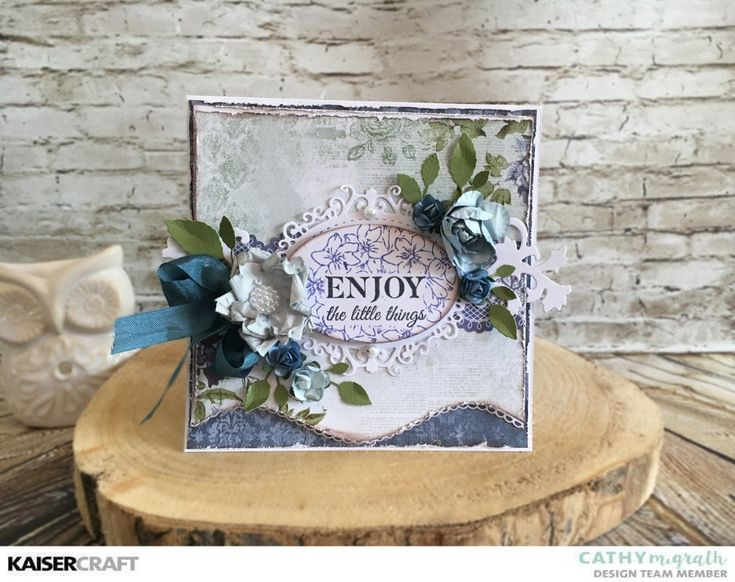 """""""Enjoy the Little Things"""" Card + Video Tutorial by Cathy McGrath Desiign Team Member for Kaisercraft Official Blog. Featuring the New December 2017 Wandering Ivy collection. Learn more at kaisercraft.com.au - Wendy Schultz - Kaisercraft Projects."""