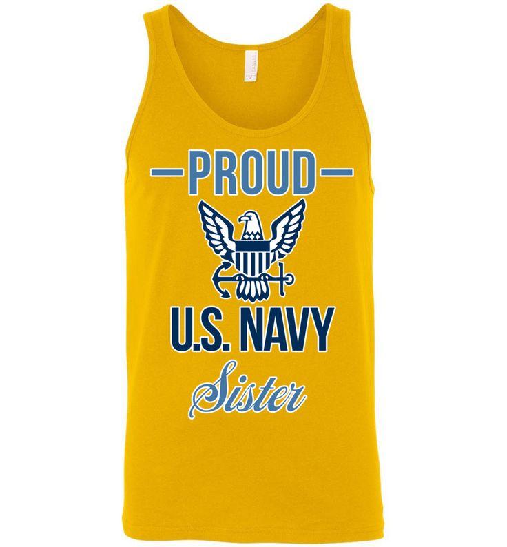 Proud U.S. Navy Sister Canvas Unisex Tank