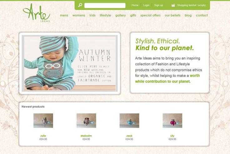 Arte Ideas - Inspiring collection of environmentally friendly fashion & lifestyle store. http://www.arteideas.co.uk #eccomerce #design #development