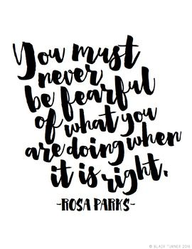 Words From Wise Women {FREE Printable Quote Posters} Rosa Parks