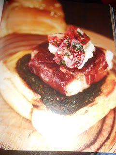 """Le Chef Pierre D'Iberville: Burger """"Poisson, prosciutto, chimichurri"""""""