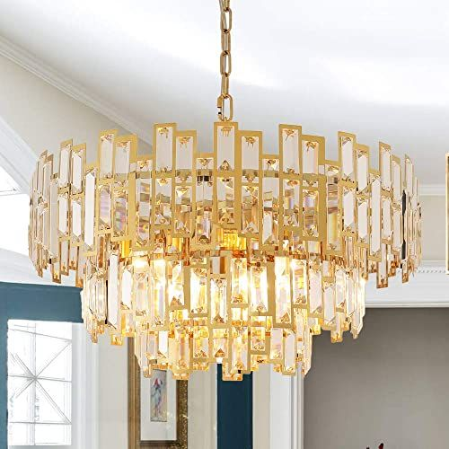 Beautiful Antilisha Gold Chandeliers Modern Crystal Chandelier For Dining Rooms Bedroom In 2020 Modern Crystal Chandelier Modern Chandelier Crystal Chandelier Lighting