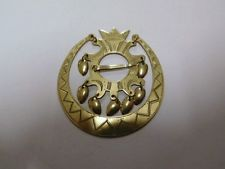 Taito, Paavo Tynell, Finland: Vintage 30's National Costume Brooch. 813 Silver