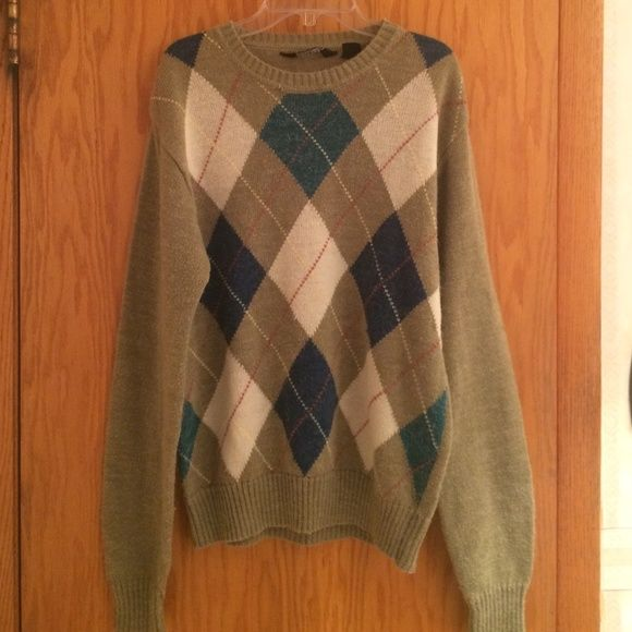 Men's argyle sweater Perfect condition Christopher Rand Sweaters