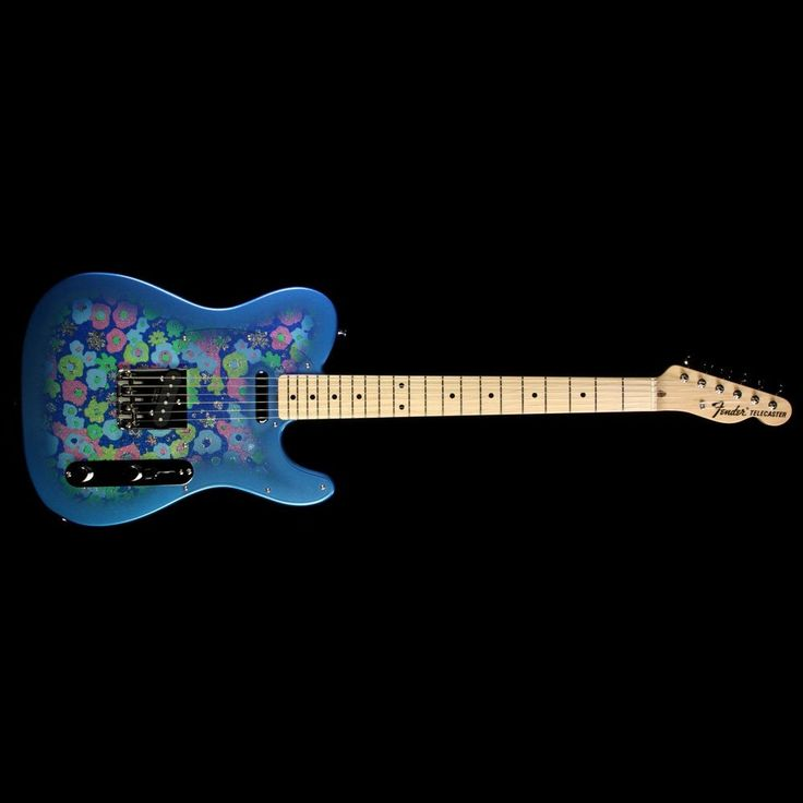 Fender FSR MIJ '69 Reissue Telecaster Electric Guitar Blue Flower Paisley