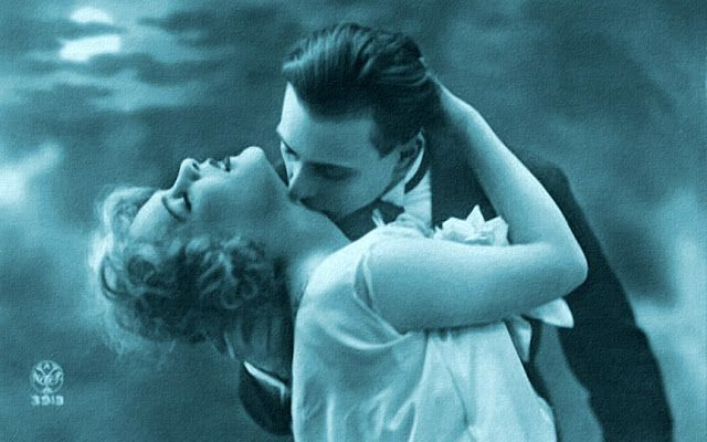 vintage everyday: 51 French Postcard Show How To Kiss Romantically from the 1920s