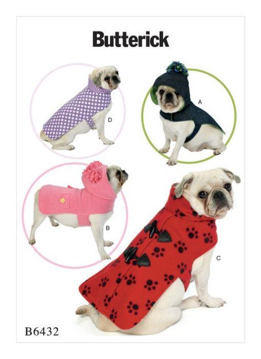 B6432 Mantel Kragen, Butterick | hundekleidung | Pinterest | Pattern ...