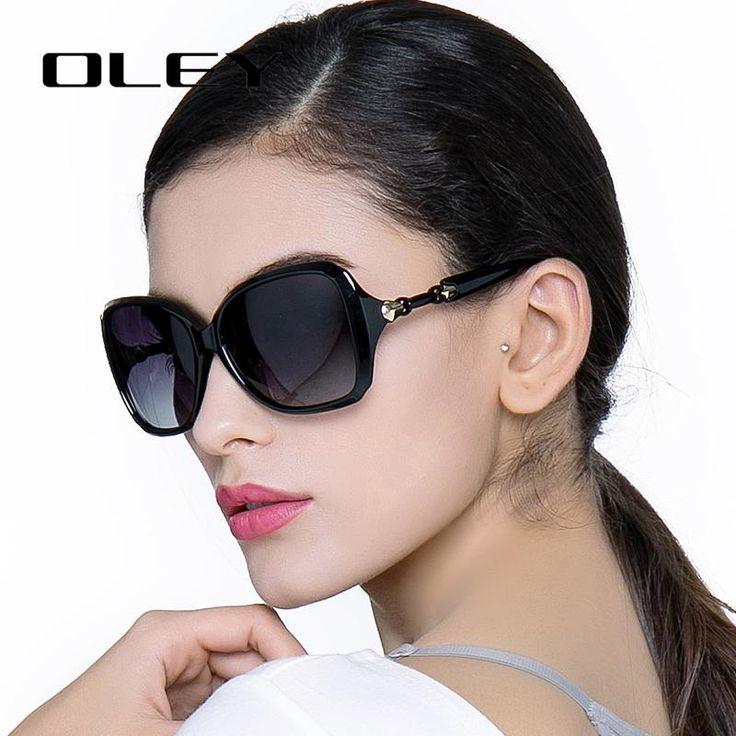 OLEY Oversized Women Sunglasses Polarized butterfly Gradient Female driving goggles Oculos de sol femininos Y77117