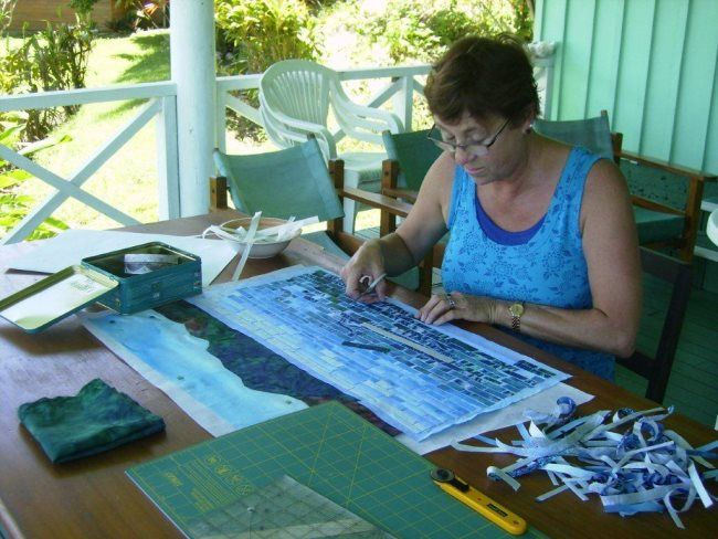 How To Create A Landscape Quilts   Quilting at Daku Resort - Cazs Quilt