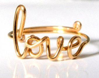 Filo d'oro amore Fascia regolabile delicato di FabulousWire