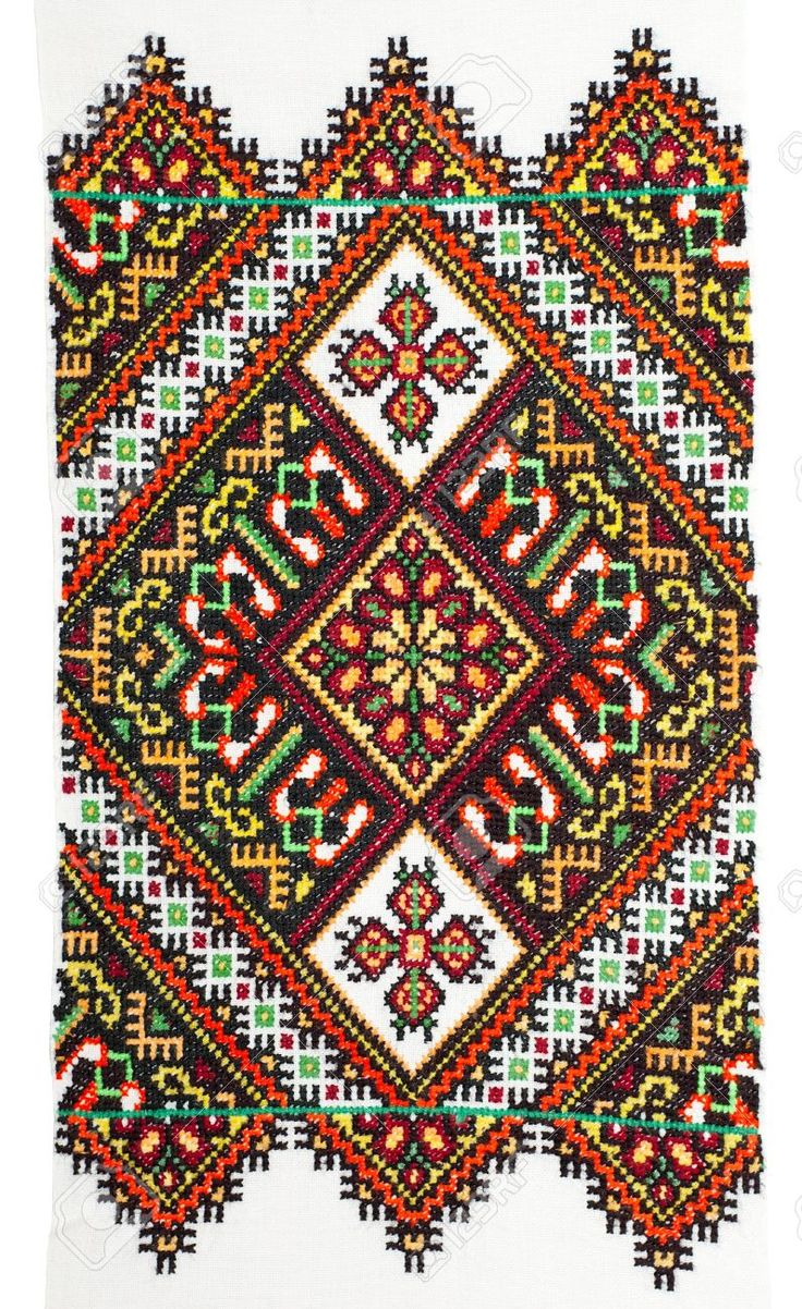 embroidered handmade good by cross-stitch pattern