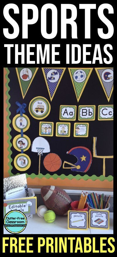 if sports classroom theme ideas are what you need you ll find