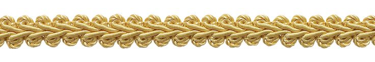 "10 Yard Value Pack of 1/2"" Basic Trim French Gimp Braid, Style# FGS Color: LIGHT GOLD - B7 (30 Ft. / 9.5 Meters)"