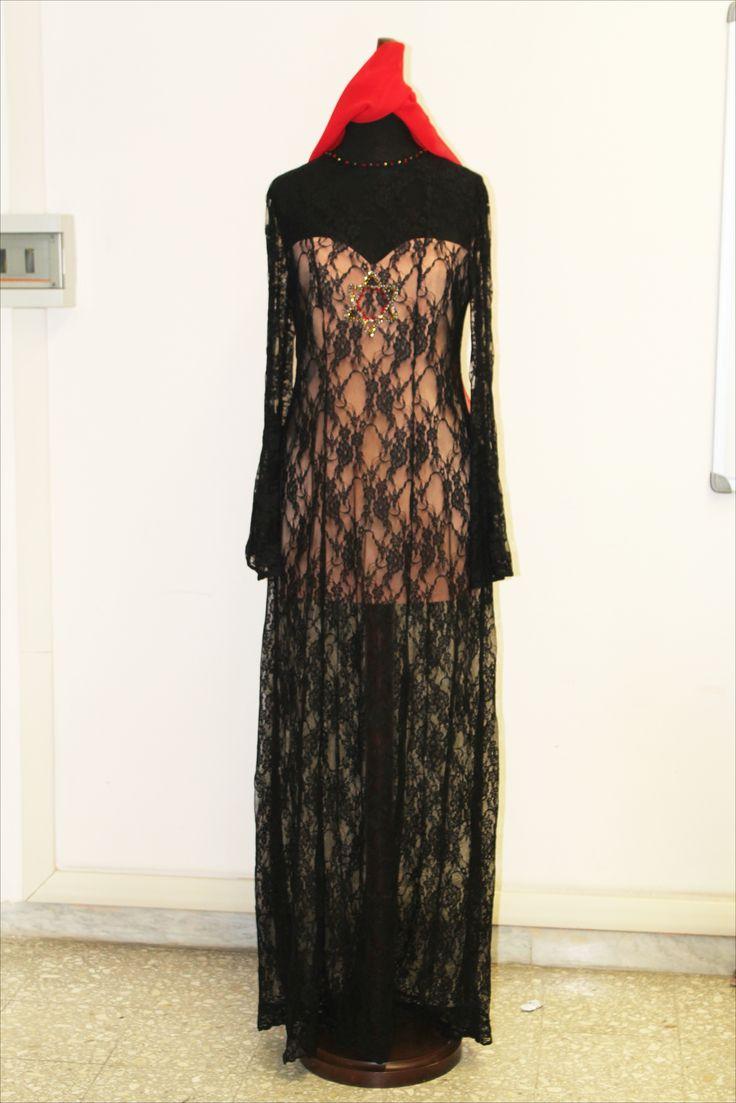 Houte Couture. Pizzo dress. Moda Movie. Nigro