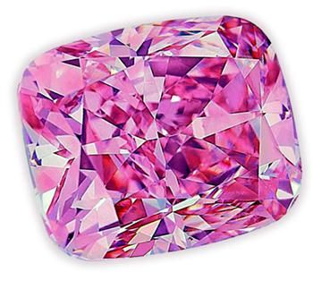 "The ""Pink Panther"" diamond, a 12.76 carat Argyle Jubilee, unearthed in Australia in February 2012"