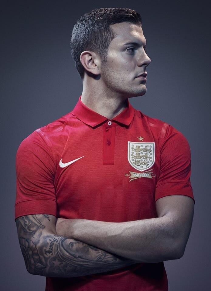 Twitter / derbygooner10: Jack Wilshere in the new England away kit