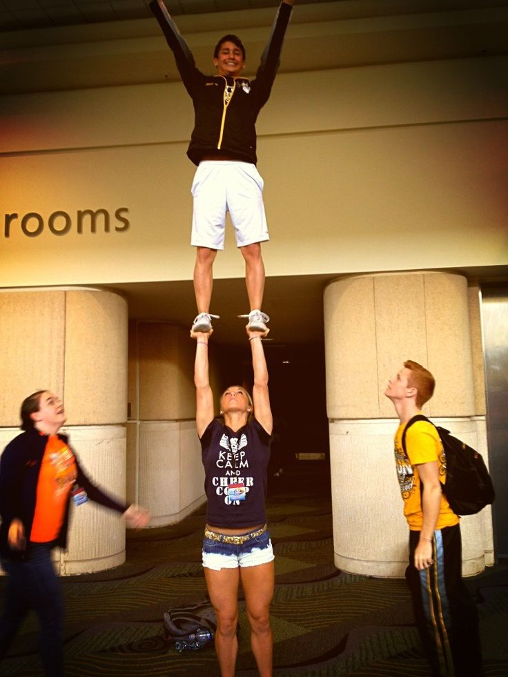 cheer overhead | Lift and Carry | Pinterest | Cheer
