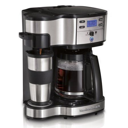 Hamilton Beach 2 Way Brewer 49980a Single Serve Coffee Maker And Full 12 Cup Coffee Pot Stainless Steel Programmable Walmart Com In 2020 Single Coffee Maker Best Drip Coffee Maker Best Coffee Maker