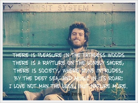 Christopher McCandless - Lord Byron's poem, from