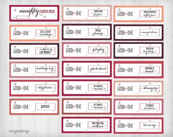 Printable NAUGHTY Coupons for boyfriend husband por InfoGreetings
