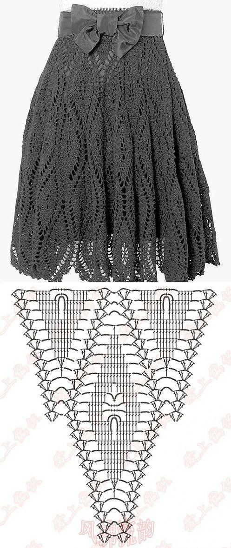 Схема классической юбки вязаная крючком своими руками | Лаборатория бытовые