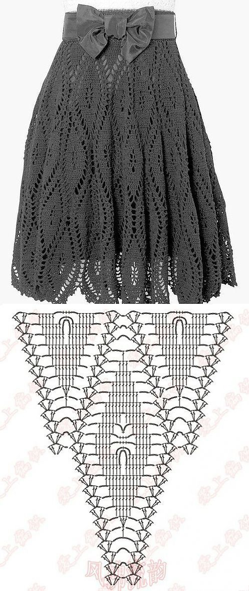 The scheme of classical skirts, knitted crochet own hands | Laboratory household | вязание | Постила: