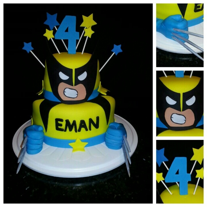 Wolverine Cake for Maxim's 5th birthday