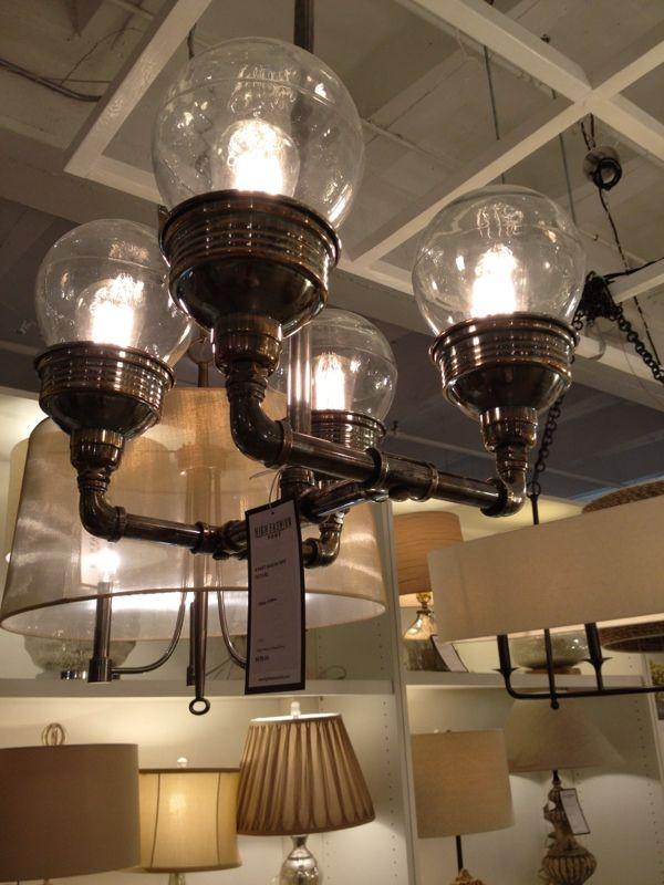 Steampunkindustrial pipe fitting chandelier 63 best Lighting