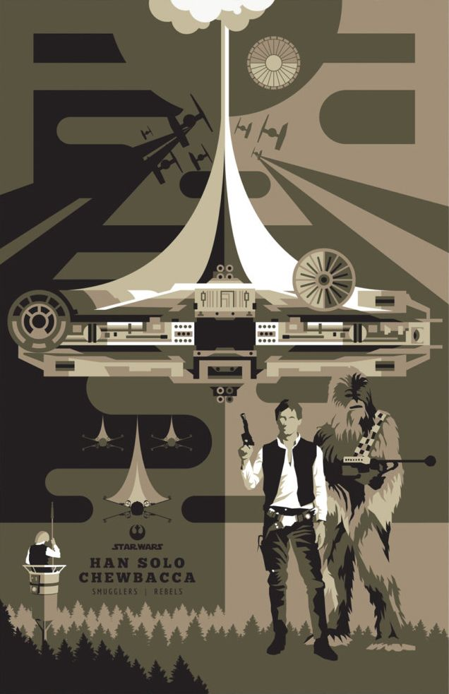STAR WARS – Han Solo and Chewbacca Millennium falcon – retro series