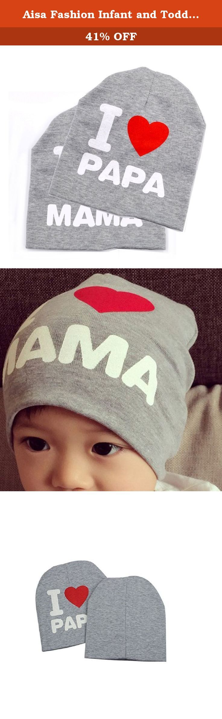 Aisa Fashion Infant and Toddler Baby Cotton I LOVE MAMA/PAPA Printed Soft Beanie Hat Cap(Pack of 2) Color Grey. Aisa Fashion Infant and Toddler Baby Cotton I LOVE MAMA/PAPA Printed Soft Beanie Hat (Pack of 2) Gender: Unisex. Baby Boys/Girls Color: Grey/Black/Pink/White Material: Cotton Head circumference:approx 40~55CM/15.7~21.6IN Stretchy and flexible,suitable for baby about 7 month ~3 years old Packaging include:2pcs * baby hat,I Love MAMA/PAPA each have 1pcs Fashion design,soft and…