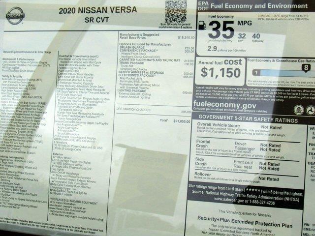 2020 Nissan Versa Sedan Sr Nissan Versa Nissan Fuel Cost