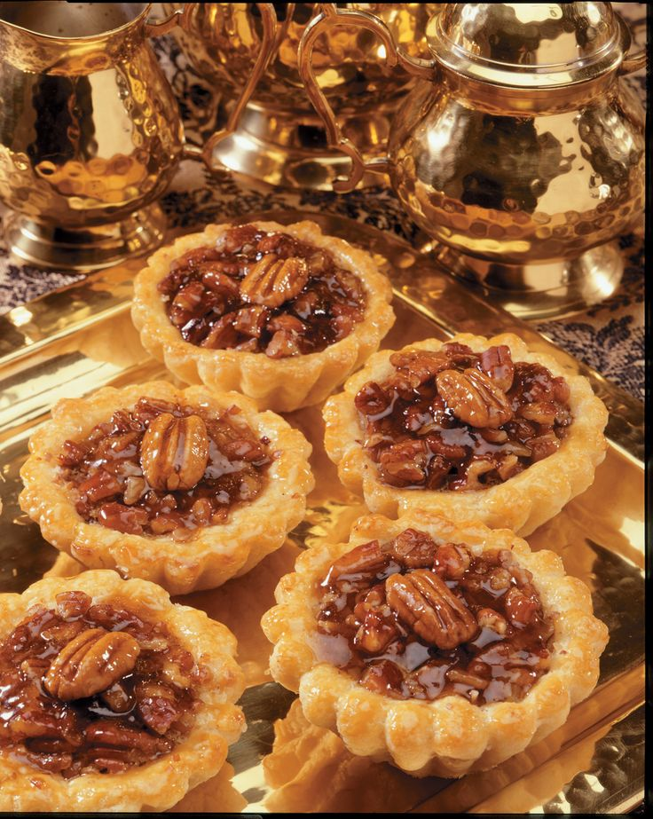 These bite sized pecan tarts are just enough dessert to leave you satisfied.