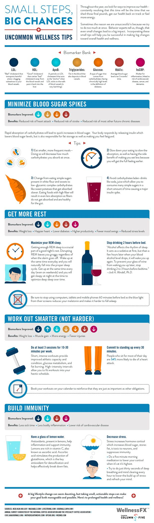 Uncommon wellness tips   info graphic