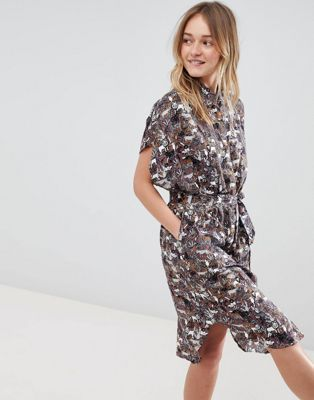 d64587823a08 Monki Animal Print Oversized Shirt Dress | Needful fashion ...