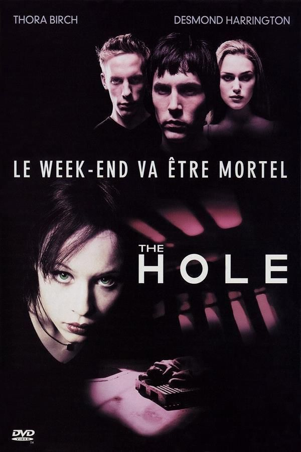 The Hole    Le Refuge     Support: BluRay 1080    Directeurs: Nick Hamm    Année: 2001 - Genre: Crime / Drame / Horreur / Thriller - Durée: 102 m.    Pays: United Kingdom - Langues: Français, Anglais    Acteurs: Thora Birch, Desmond Harrington, Keira Knightley, Laurence Fox, Daniel Brocklebank, Embeth Davidtz, Steven Waddington, Emma Griffiths Malin, Jemma Powell, Gemma Craven, Anastasia Hille, Kelly Hunter, Maria Pastel