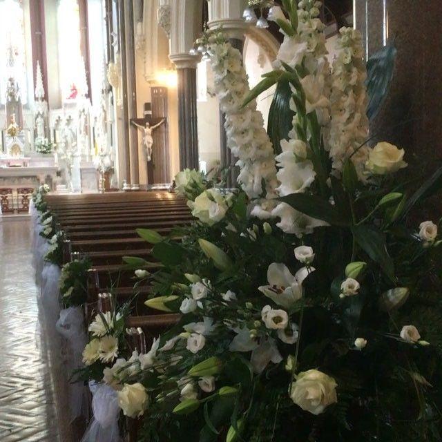 Stunning White Wedding Flowers In St Johns Church Kilkenny