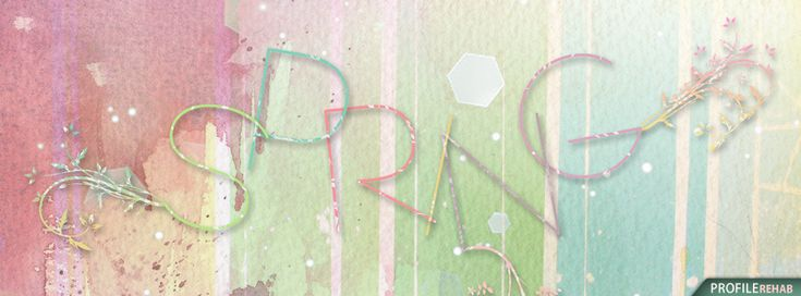 Pastel Spring Facebook Covers