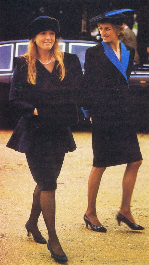 ... Princess Diana and the Duchess of York, returning from Sandringham  church in 1988 Photo (
