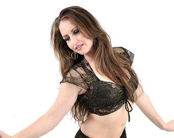 Carmen Top  rojo encaje  danza del vientre danza por dreamingamelia