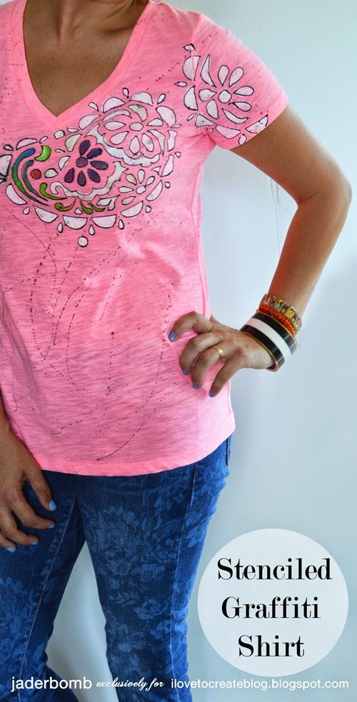 How to make a Stenciled Graffiti Shirt with Jaderbomb