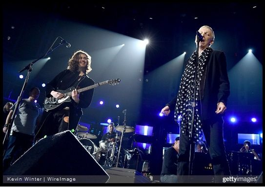 Annie Lennox Grammy 2015 rehearsal photographs with Hozier - http://www.eurythmics-ultimate.com/blog/2015/02/06/annie-lennox-grammy-2015-rehearsal-photographs-hozier/