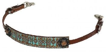 Teal & Brown Navajo Wither Strap