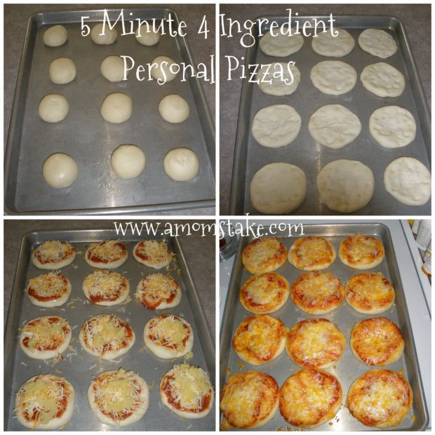 5 Minute 4 Ingredient Personal Pizza Recipe - A Mom's Take