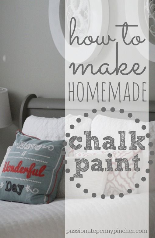 How To Make Homemade Chalk Paint + My $48 Goodwill Sleigh Bed