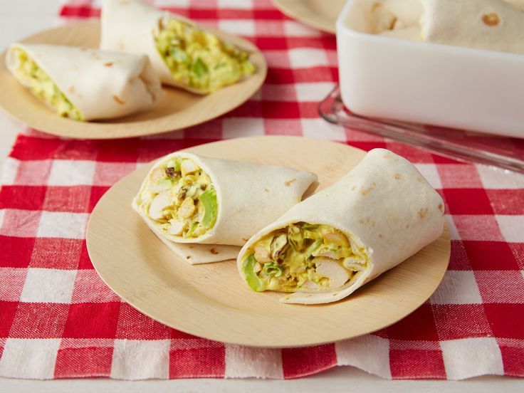 Get this all-star, easy-to-follow Curried Chicken Wraps recipe from Ina Garten